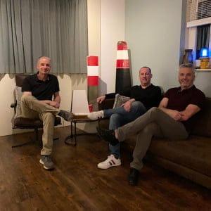 The Blackbird Aviation team members Arnold, Jurgen and Stefan
