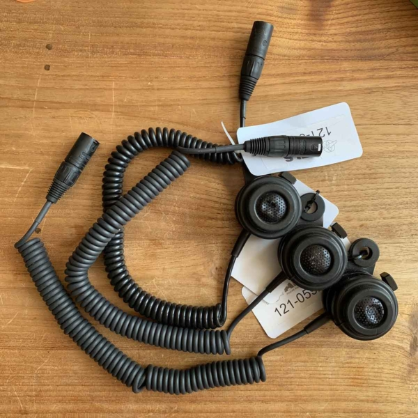 Three handheld microphone that have been used in a KLM Boeing 747 PH-BFR for sale.