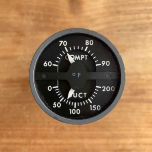 Secondhand aircraft compartment duct temperature indicator for sale.