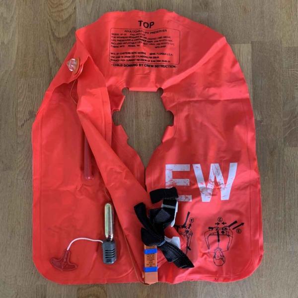 Eastern Aero Marine crew life jacket front side.