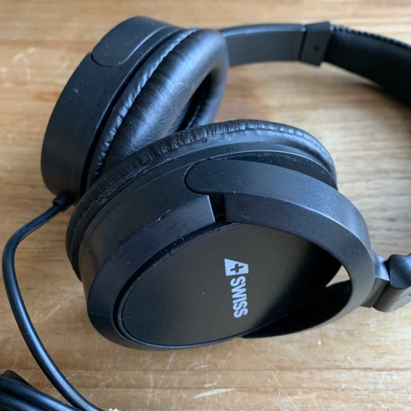 Swiss First headphone detailed view.