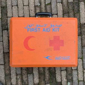 Kuwait Airways Boeing 747 9K-ADE first aid kit for sale.