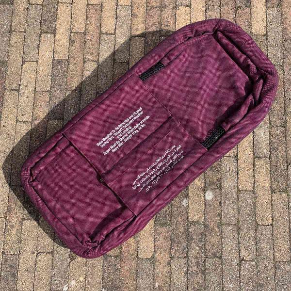 Qatar airways aircraft baby bassinet when folded.