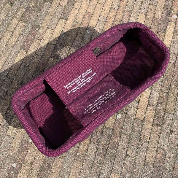 Qatar airways aircraft baby bassinet without bag.